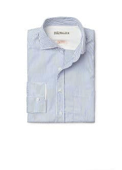 Camicia slim-fit righe tasca