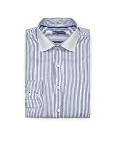 CAMISA SLIM-FIT RISCAS ALGODO