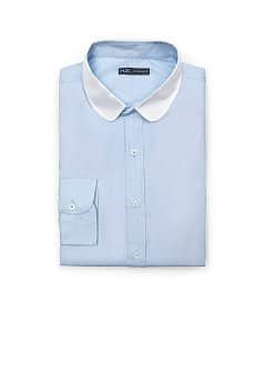SLIM-FIT CONTRAST COLLAR SHIRT
