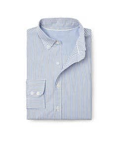 Chemise slim-fit oxford rayures