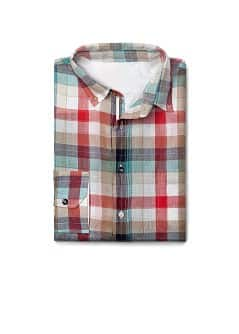 Madras check slim-fit shirt