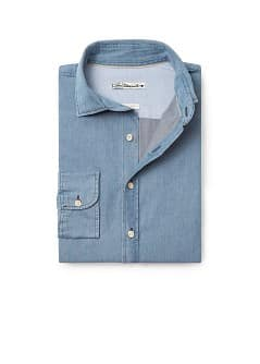 Chemise en denim slim-fit