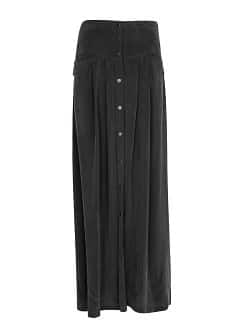 Cupro long skirt