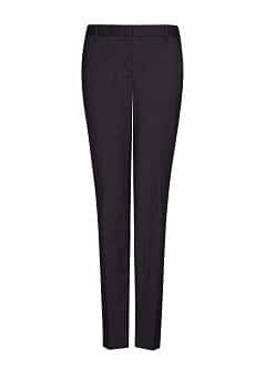 Tailored straight-fit trousers