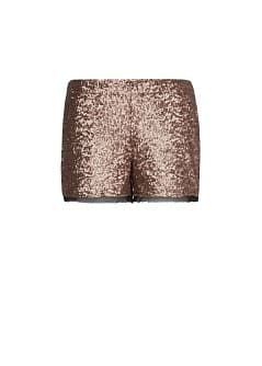 Chiffon hems sequined shorts