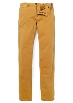 SLIM-FIT DYED CHINO TROUSERS
