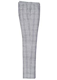 SLIM-FIT CHECK SUIT TROUSERS