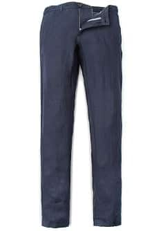 SLIM-FIT LINEN TROUSERS