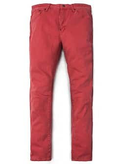 JEAN TIM SLIM-FIT ROUGE