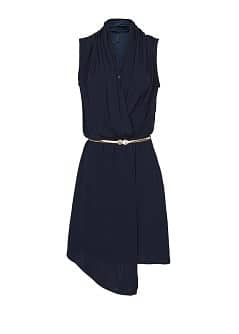 Asymmetric wrapped dress