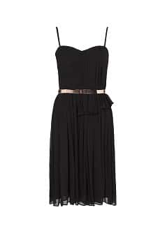 Pleated sheer dress