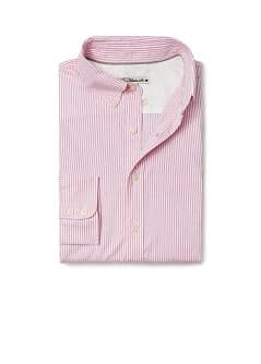 Gestreept slim-fit oxford overhemd