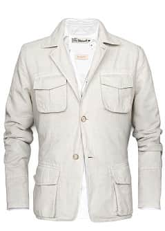 VESTE SAHARIENNE LIN ET COTON
