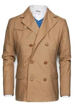 ZWEIREIHIGER TRENCHCOAT
