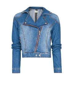 Cazadora biker denim