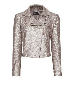 Veste biker mini-paillettes