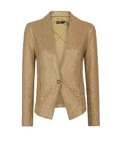 Metallic cotton jacket