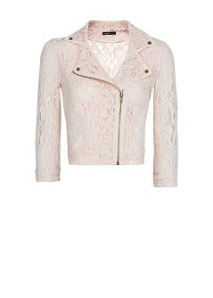 Lace biker jacket