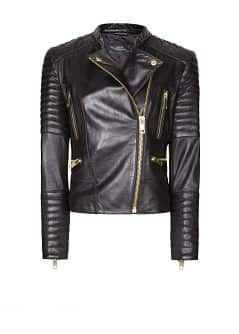 Lleather biker jacket