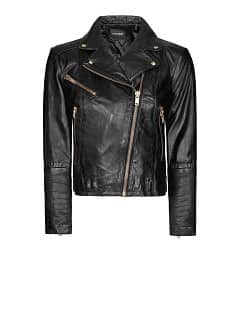 Leder-Bikerjacke