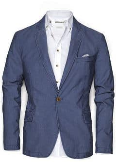 SLIM-FIT COTTON BLAZER