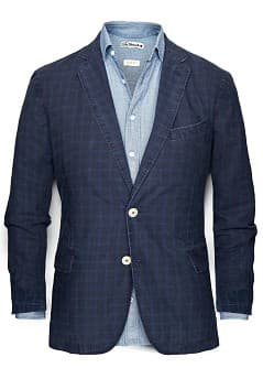 CHECK COTTON BLAZER