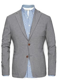 ELBOW PATCHES PIQU BLAZER