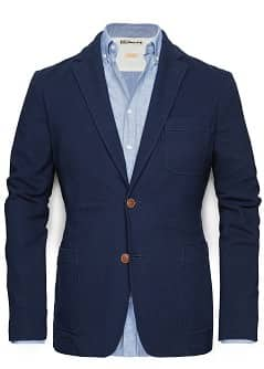 ELBOW PATCHES PIQUÉ BLAZER