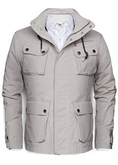 BRUSHED COTTON PARKA