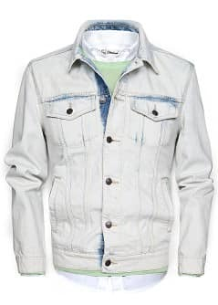 GEBLEICHTE DENIM-JACKE