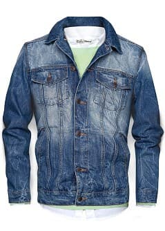 DENIM-JACKE MIT WASCHUNG