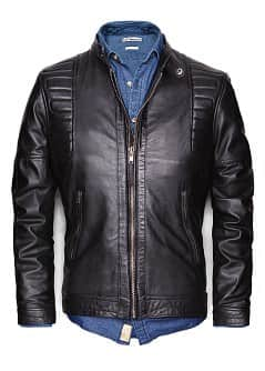 PADDED LEATHER BIKER