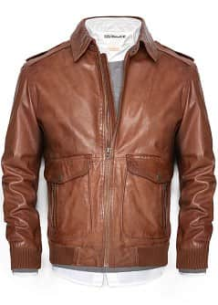 BLOUSON AVIATEUR CUIR