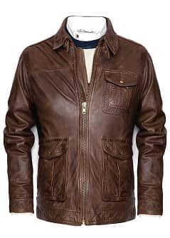 BLOUSON CUIR TEXTUR