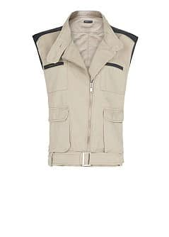 Contrast panels gilet