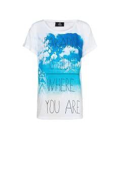 Beach T-shirt met typografische print