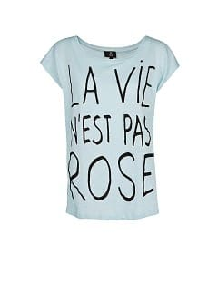 T-SHIRT IMPRIM TYPOGRAPHIQUE ET PERLES