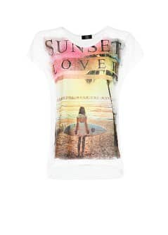 T-shirt estampada surf
