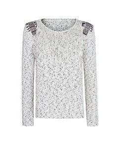 Tribal edgings jumper