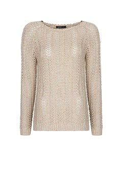 Metallic-Pullover, Lochmuster