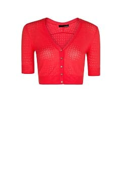 Openwork cropped cardigan