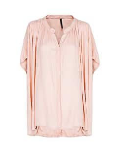 Pleated oversized blouse