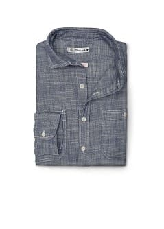 SLIM-FIT KATOENEN CHAMBRAY OVERHEMD