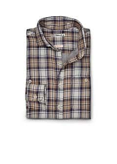 SLIM-FIT PLAID SHIRT