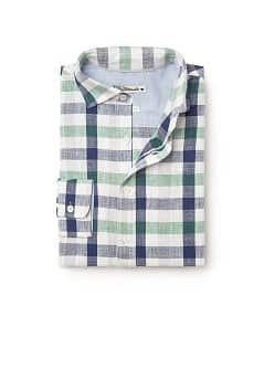 Camisa straight-fit quadrados