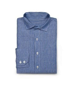 CAMISA CLASSIC-FIT LINO RAYAS