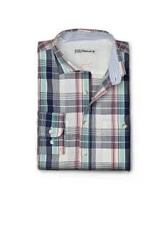 CAMISA AJUSTADA COT QUADRES
