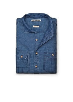 CAMICIA DENIM SLIM-FIT EFFETTO &quot;LAVATO&quot;