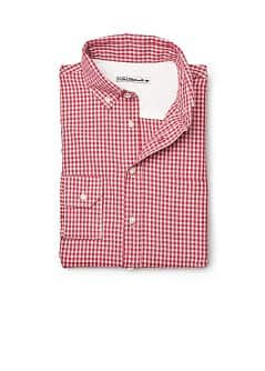 SLIM-FIT OVERHEMD MET GINGHAM RUIT