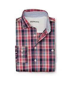 CAMISA SLIM-FIT QUADRADOS MADRÁS